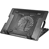 "TRIXES Laptop Stand with Built in LED, Fan & Single USB Port Ideal for 9"" to 17"" Laptop"