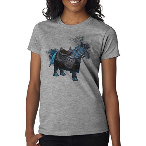 Worlf Of Warcraft Heroes Blizzard Lich King Mount Damen T-Shirt Grau