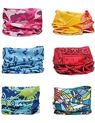 Sea Team 6 Stück / Packung gedruckt Bandanas Multifunktionstuch , 12 Arten Wahl Kopftuch, Stirnband , Motorrad Bandana, Kopftuch ect.