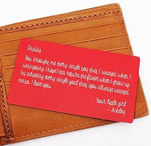 Darling Souvenir Custom Engraved Personalized Metal Wallet Card Mini Love Note Geschenk fuer Ihn (E-mail-lieferung Geschenk-karte)