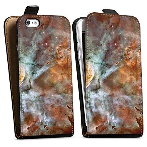Apple iPhone X Silikon Hülle Case Schutzhülle Universum Space Muster Downflip Tasche schwarz