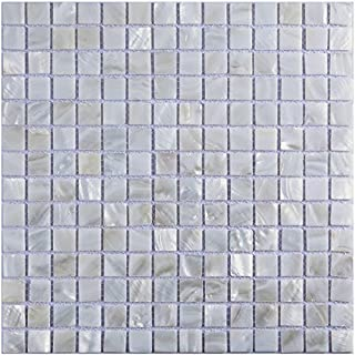 Art3d Oyster Mother of Pearl Square Shell Mosaic Tile for Kitchen Backsplashes, Bathroom Walls, Spas, Pools 12 X 6 by Art3d