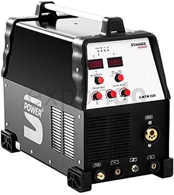 Stamos Power - S-MTM 220 - Soldadora multiproceso - TIG 220 A-MIG 220 A - Envío Gratuito