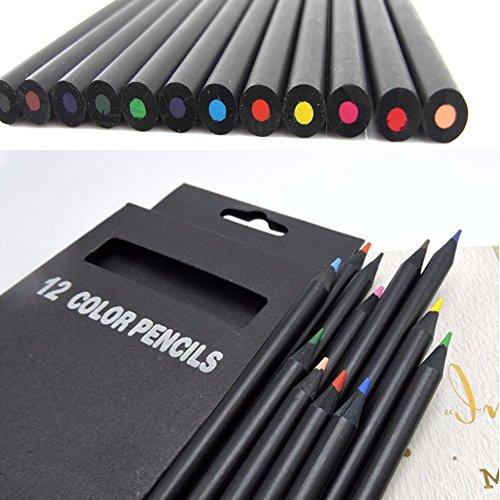 istift Set 12Colorful Skizze, Zeichnen Bleistift Art Kit für für Anfänger, Kids Oder Jede zukünftigen Künstler Zeichnen Set, Multi Color, 12 pcs ()