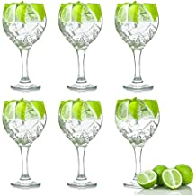 Españoles Gin Tonic cócteles gafas - 645ml (22,7 oz) Pack de 6 Globo Glasses