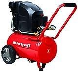 Einhell Compresseur TE-AC 270/24/10 (1800 W,Régime 2850 trs/min, Pression maximale 10 bar, Puissance d'aspiration 270 l/min , Capacité de la cuve : 24 L, Cuve garantie 10 ans contre la corrosion)