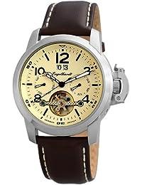 Engelhardt Herren-Armbanduhr XL Analog Automatik Leder 388927529006