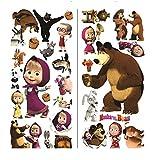masha and the bear wall murals Mascha und der Bär Wand Sticker Art Wand Aufkleber Kinder Schlafzimmer Wand Aufkleber Jungen Mädchen Größe: 75cm x 35cm 2Blatt