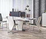 CARELLIA Tisch Hat Essen rechteckig ausziehbar–L: 160÷ 220cm x P: 90cm x h: 76cm–Weiß