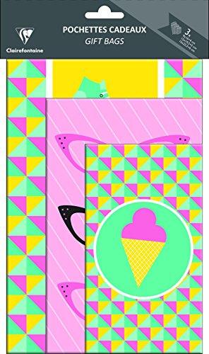 Clairefontaine Sommer Geschenk Tasche (Pack von 3) - Pack Geschenk-tasche