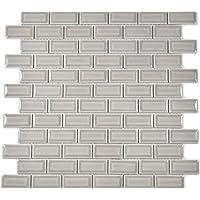 Mini Metro Subway Mosaik Fliese Keramik grau Brick Bond Diamond steingrau für WAND BAD WC DUSCHE KÜCHE FLIESENSPIEGEL THEKENVERKLEIDUNG BADEWANNENVERKLEIDUNG WB26-0204