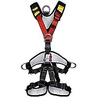 Suntime Arnés de Seguridad de Escalada para Hombre Mujer Alpinismo Cuerda Equipo Escalada Ajustable Al Aire Libre Rappel Cinturón Seguridad de Rescate para Trabajo Trekking Senderismo Rappelling