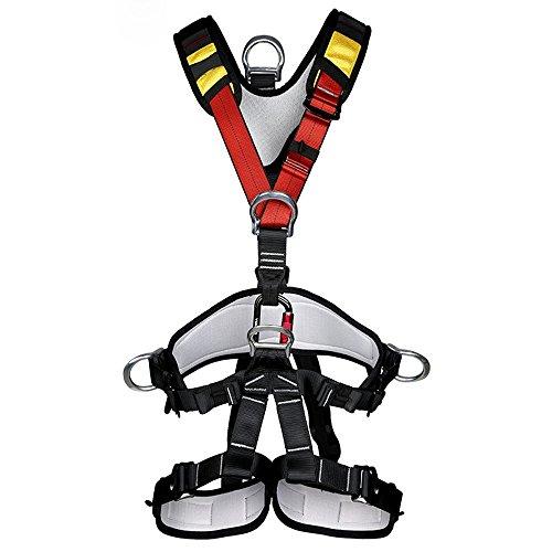 SunTime Mehrzweck Klettergurt Taille Hüfte Schutz Gürtel für Bergsteigen Baumklettern (Ganzkörper)
