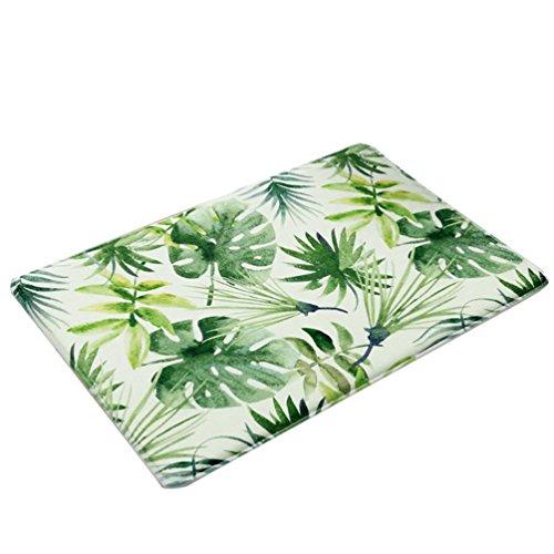 YiLianDa Tropical Hojas Alfombrillas Antideslizante Alfombra para Baño Interior Exterior Doormats Alfombras...