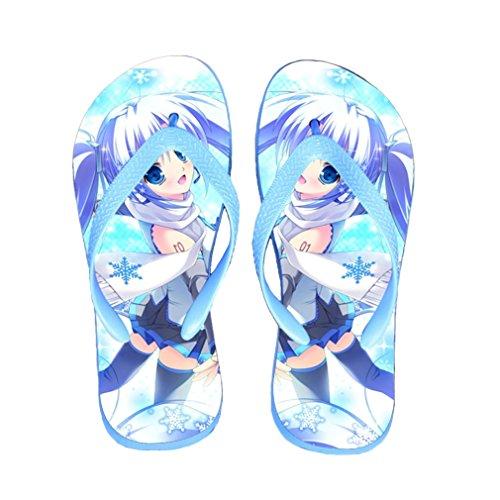 Bromeo Hatsune Miku Anime Unisexe Flip Flops Tongs 163