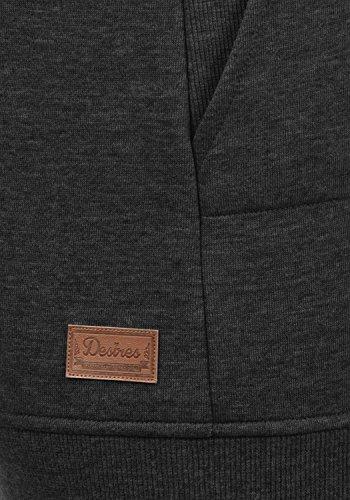 DESIRES Vilma Damen Pullover Sweatshirt mit Tube-Kragen aus hochwertiger Baumwollmischung Dark Grey Melange (8288)