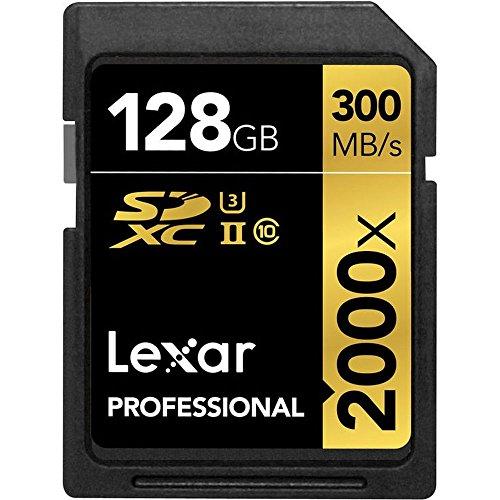 Lexar LSD128CRBEU2000R Professional SDHC 2000x (300MB/s) UHS-II Flash-Speicherkarte, 128 GB