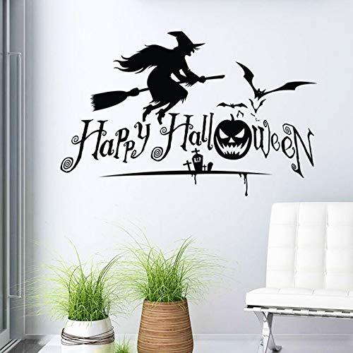 guijiumai Halloween Serie Hexe Entfernbare Wandaufkleber für Wohnzimmer Tapete Vinyl Kunst Dekor Wandtattoos Schlafzimmer Home Murals97,5X63 cm