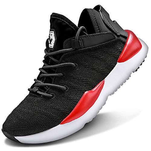 ASHION Kinder Turnschuhe Jungen Sport Schuhe Mädchen Kinderschuhe Sneaker Outdoor Laufschuhe für Unisex-Kinder(C-schwarz,39 EU)