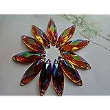 100pcs Navette forma Flatback Loose Gem piedra café Color coser en piedras brillantes 8* 26mm Cristal Accesorios