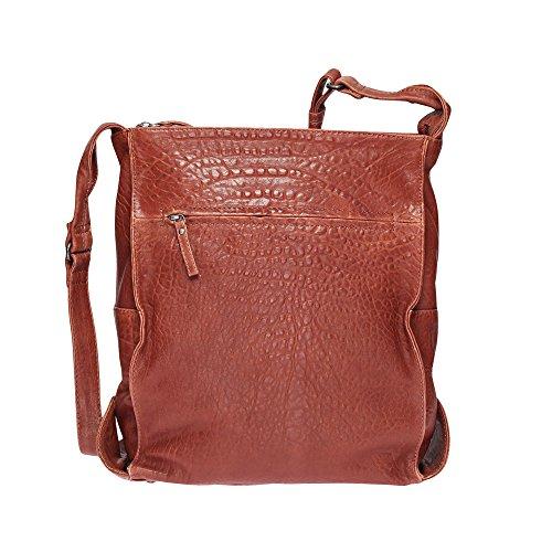 VOi Leather Design, Borsa a secchiello donna 36 x 33 x 14 cm (HxBxT) cognac