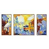 xy Wandsticker Wandfiguren Dekorative Gemälde Abstrakte Malerei Wohnzimmer Sofa Hintergrund Wandmalerei Hängende Malerei Moderne Einfachheit Wandbild Drei Joint Ölgemälde
