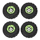 Qiterr 1/12 Pneumatici per Auto RC, Pneumatici per Telecomando Modello di Ruote Spar Accessori per Wltoys 12428 12423(2PCS Left Tire+2PCS Right Tire)