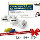 Beruhigungs-Zäpfchen® für Braunschweig-Fans | Für Freunde von Eintracht-Fanartikeln, Kaffee-Tassen, Fan-Schals Sowie Männer, Kollegen & Fans im Eintracht Braunschweig Trikot Home