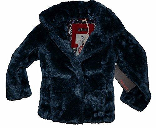 Reset Kinder Mädchen Winterjacke Kids Teddyfell Jacke Elke blau Gr. 128
