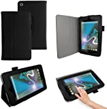 CaseGuru Codex Protective Leisure Case Cover Holder With Viewing Stand & Stylus Pen Holder For HP Slate 7 (Black)