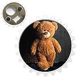 Fancy A Snuggle Lächelnder Teddy posiert für Kamera Kühlschrankmagnet mit Flaschenöffner