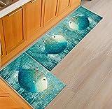 Ommda Küchen Teppiche Läufer Tiere Drucken Antiskid Küchenläufer Schlafzimmer Dekorativ mit Gummirückseite 50x120cm