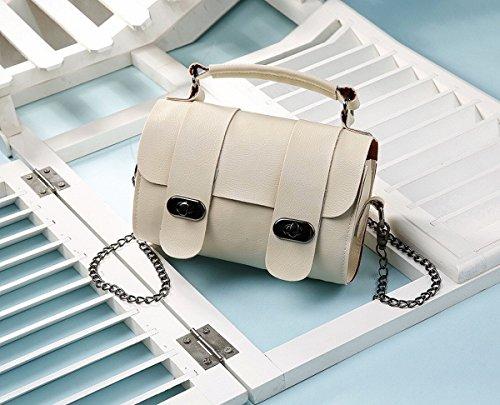 2fe0bca81014e Eimer tasche handtasche Schulter Schräge Kreuz Die Kette der weiblichen  einfachen mini-tasche Beige