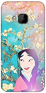 Snoogg Geisha Stories Designer Protective Back Case Cover For HTC M9