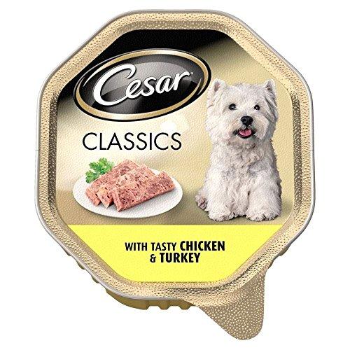 Cesar Classics mit Tasty Chicken & Türkei - Foil Tray (150g) - Packung mit 2 (Cesars Chicken Hundefutter)