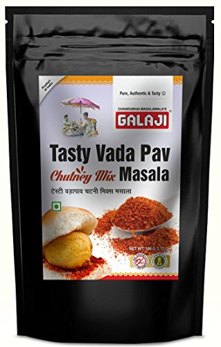 Galaji Tasty Vada Pav Chutney Mix Masala 100 Grams (Zip Lock Packing)