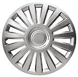 xtremeauto® 35,6cm VW Stil Silber Auto Rad Trim Hub Cap deckt multi-spoke–inkl. Ventil Kappen und Cableties...