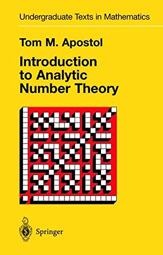 Introduction to Analytic Number Theory (Undergraduate Texts in Mathematics) por Tom M. Apostol