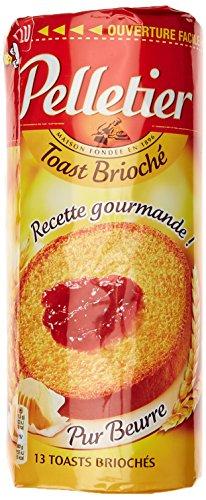 Pelletier Toast Brioché Recette Gourmande pur beurre le Paquet 150 g - Lot de 6