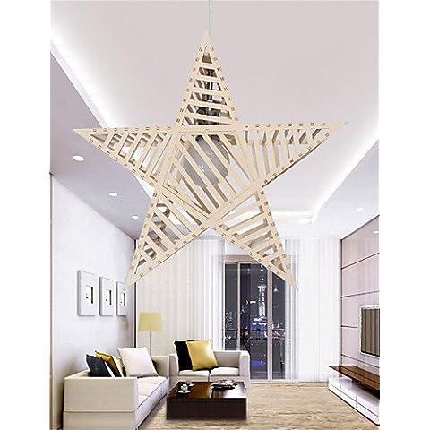 Illuminazione jiaily 12W LED Vintage stella a cinque punte lampadari in legno Soggiorno / Camera da letto / Sala da pranzo / Sala di studio/ufficio / Corridoio , 220-240V