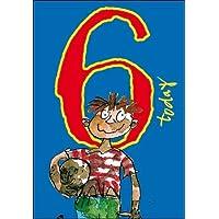 Woodmansterne Boy's Birthday Card - Age 6 - Quentin Blake - Muddy Footballer