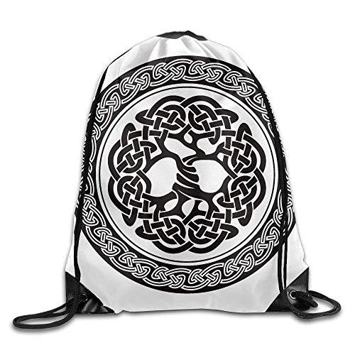 Medallion-block (DHNKW Native Celtic Tree of Life Figure Ireland Early Renaissance Artsy Medallion Ball Backpack)