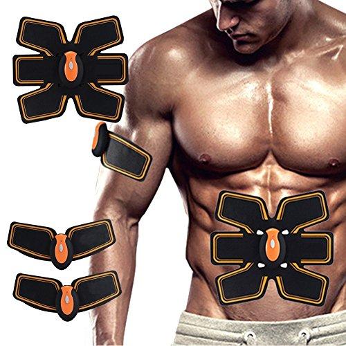 [neue Version 2017] Professional EMS Bauch Muskelaufbau Gürtel Home Fitness Training Gear, Vibration Pads für Männer und Frauen zu Tone, Gewichtsverlust, Trimmer, schlank, former, Strong (Vibration Training Maschine)