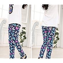 Niña Impresión Leggings Cintura Elástica Pantalones De Lápiz Jeggings Leggins 5 130CM