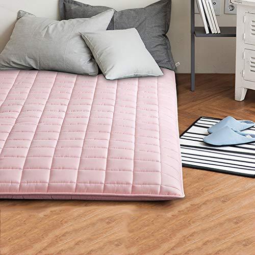 CNZXCO Dust mite & Allergy Control Matratzenschoner Schlafen pad Tatami futon-matratze, Gesteppt 205tc Baumwolle Matratzenschoner Topper Japanischen futon bodenmatten-Rosa 180x200cm(71x79inch) -