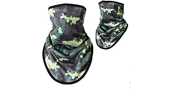 Apparel Accessories 55x32cm Unisex Outdoor Triangle Scarf Colorful Face Mask Graffiti Camouflage Skeleton Printing Motorcycle Cycling Bandana Neck