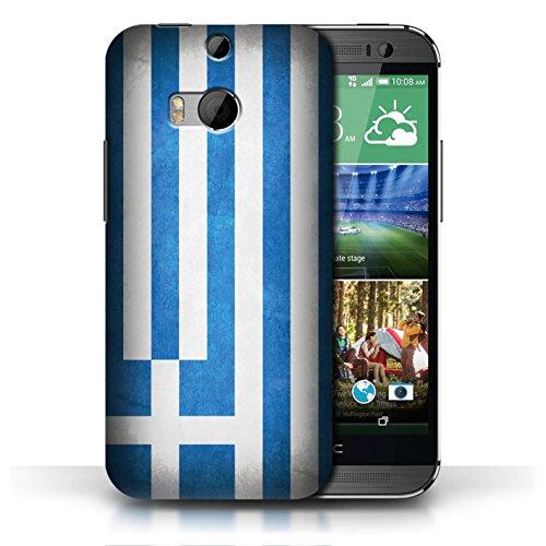 Coque en plastique pour HTC One/1 M8 Collection Drapeau - Mecico/Mecican Grèce/Grec