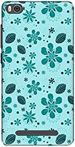 The Racoon Lean printed designer hard back mobile phone case cover for Xiaomi Mi4i. (flowers an)
