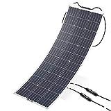 ALLPOWERS 100W 18V 12V Solarmodul Solarpanel Flexibel Solarladegerät Monokristallin Solarzelle Outdoor wasserdichte mit MC4 Ladekabel für Wohnmobil, Auto, Boot 12V Batterien