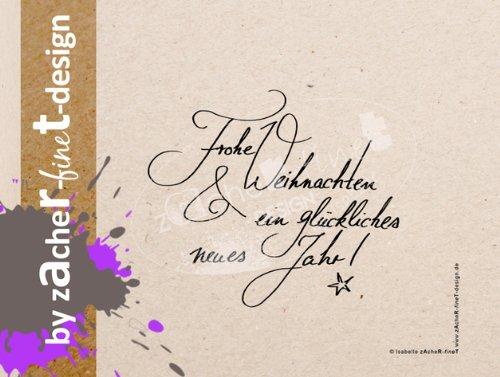 Weihnachtsstempel Typo Weihnachten - Motivstempel - Bilderstempel